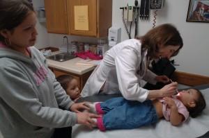 Family exam at the Pueblo Community Health Center