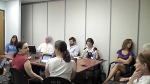 Overflow crowd at health exchange meeting