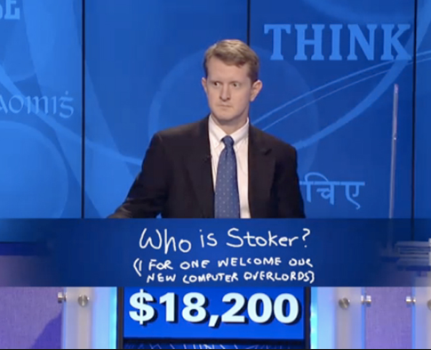 When Watson prevailed in Jeopardy in 2011, Ken Jennings, who had won 74 games in a row before succumbing to Watson, famously borrowed a line from a Simpsons episode and wrote: I, for one, welcome our new computer overlords. IBM's Kohn says Watson doesn't want to be your doctor: Were not replacing anyone. Were not anybodys overlord.""
